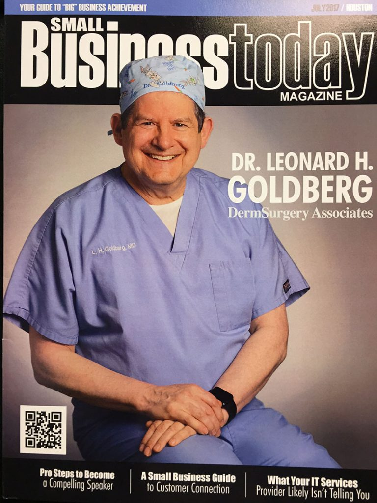 Small Business Today Magazine, Dr. Leonard H. Goldberg cover.