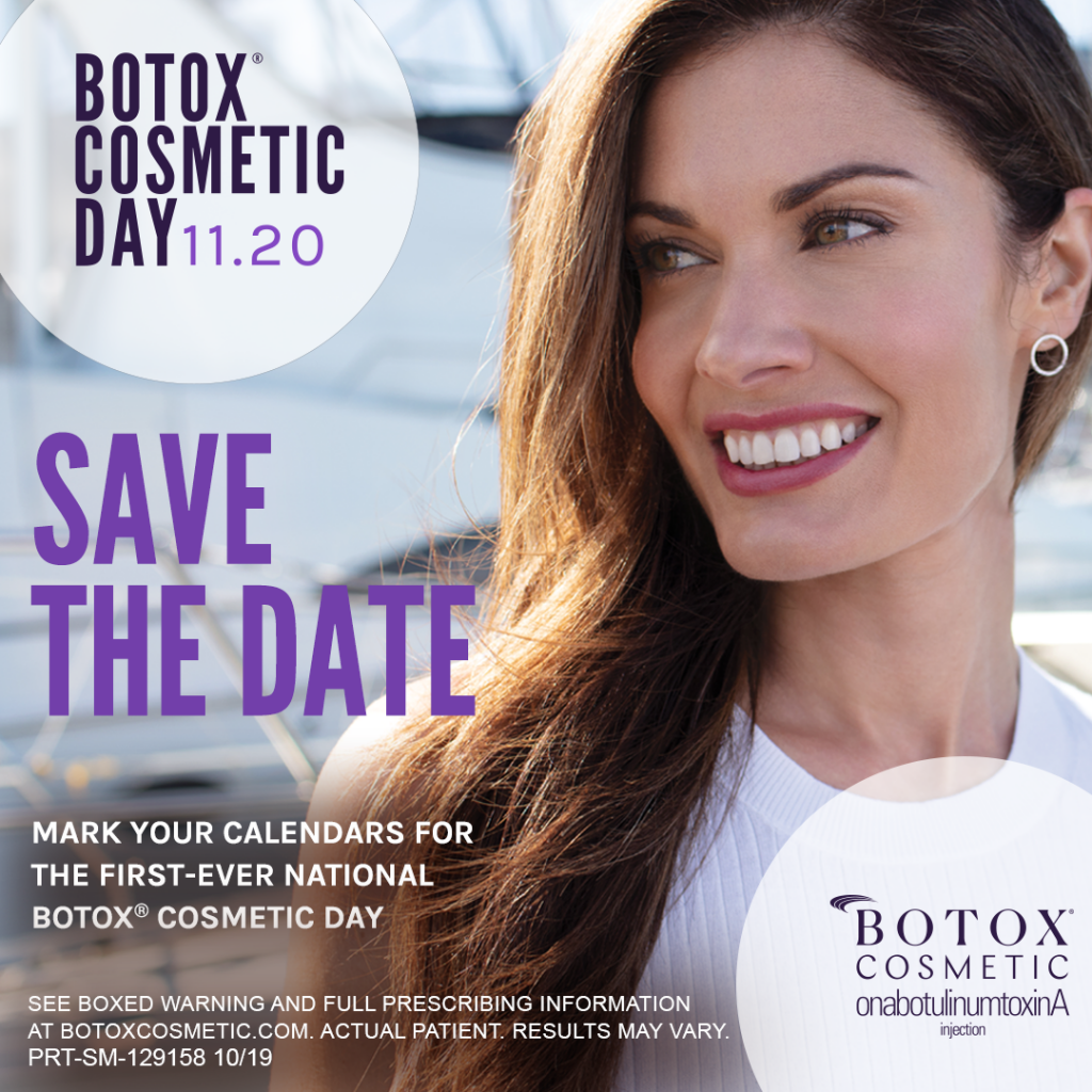 BOTOX Cosmetic day, 11/20.