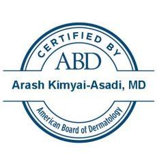 certified by ABD - Dr. Kimyai-Asadi