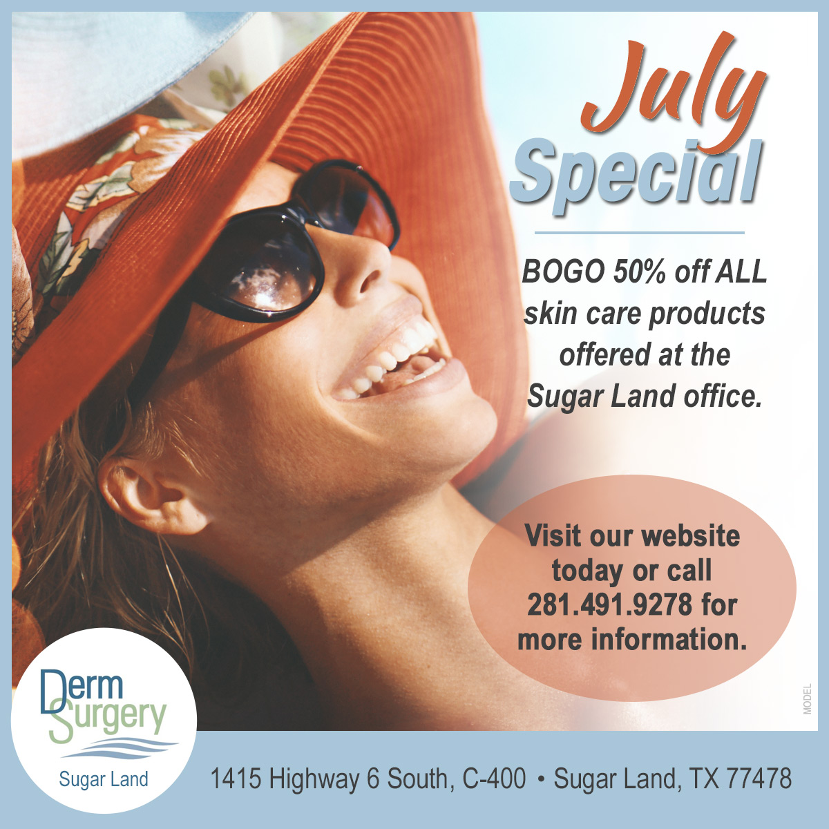 Sugar Land July Specials