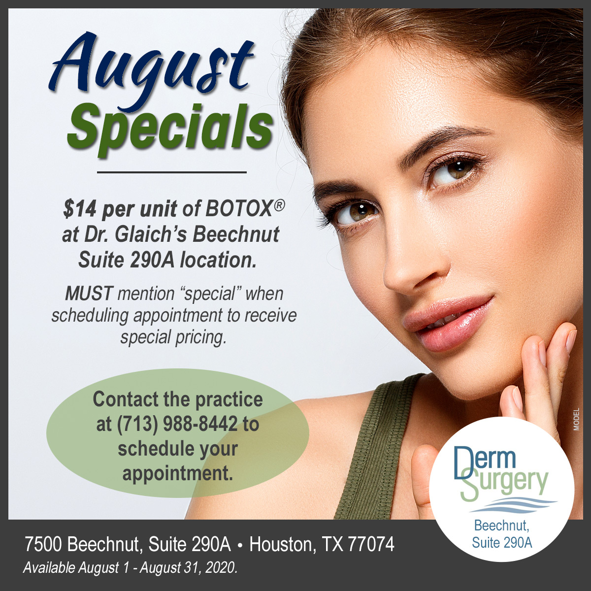 Dr. Glaich's August Special