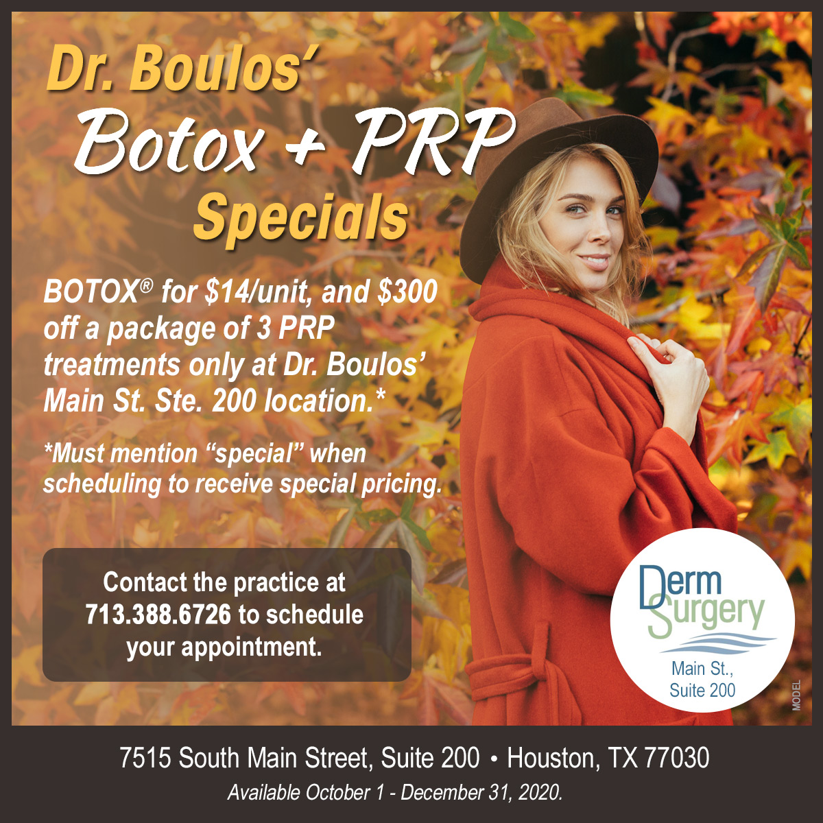 Dr. Boulos's October Special