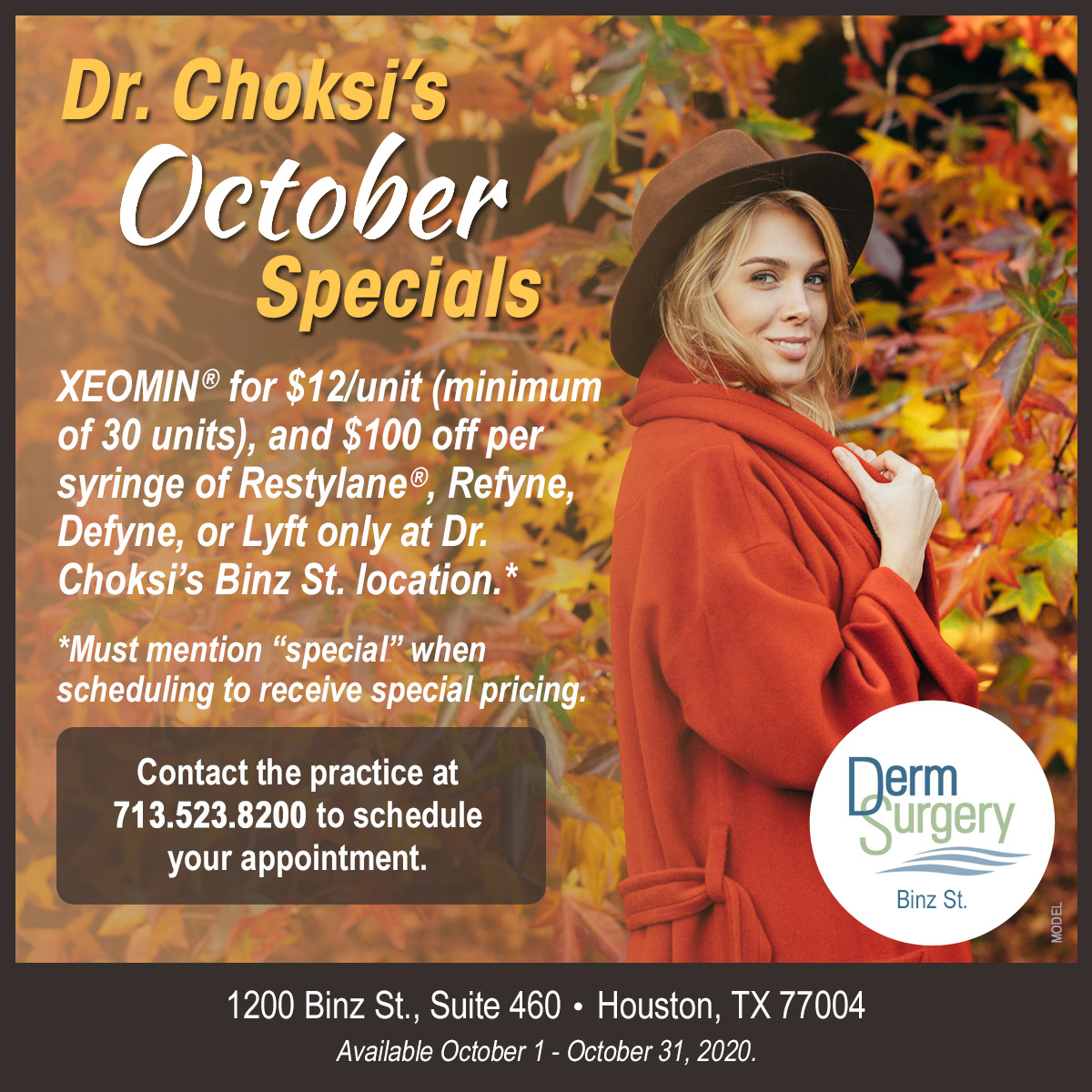 Dr. Choksi's October Special