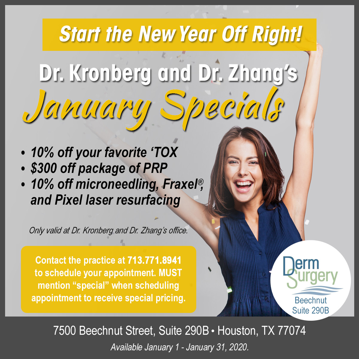 Dr. Kronberg and Dr. Zhang's January Special