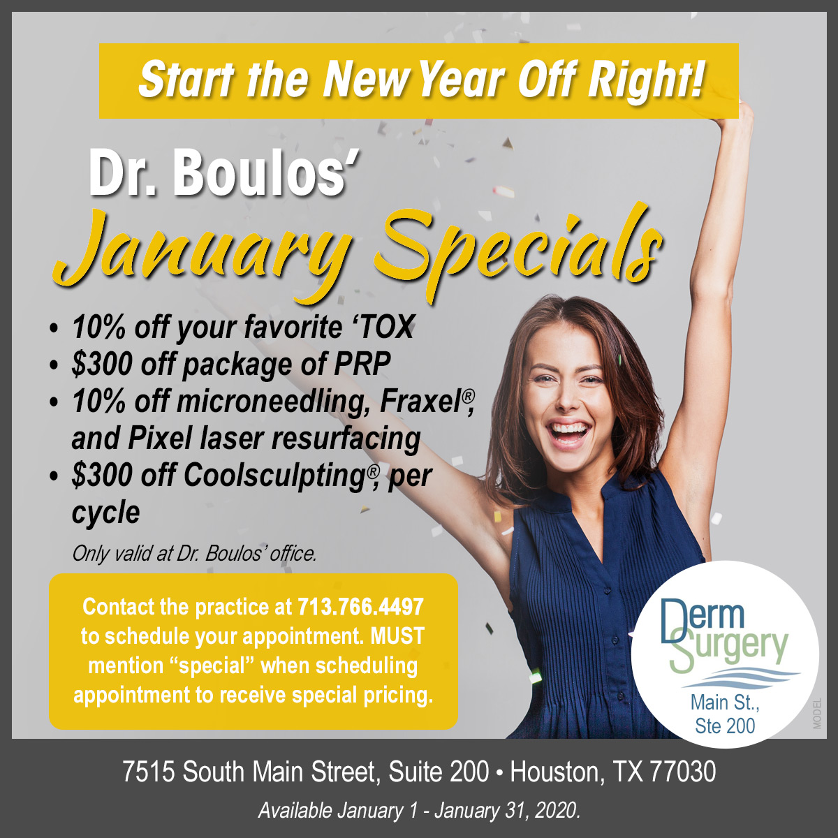 Dr. Boulos's January Special
