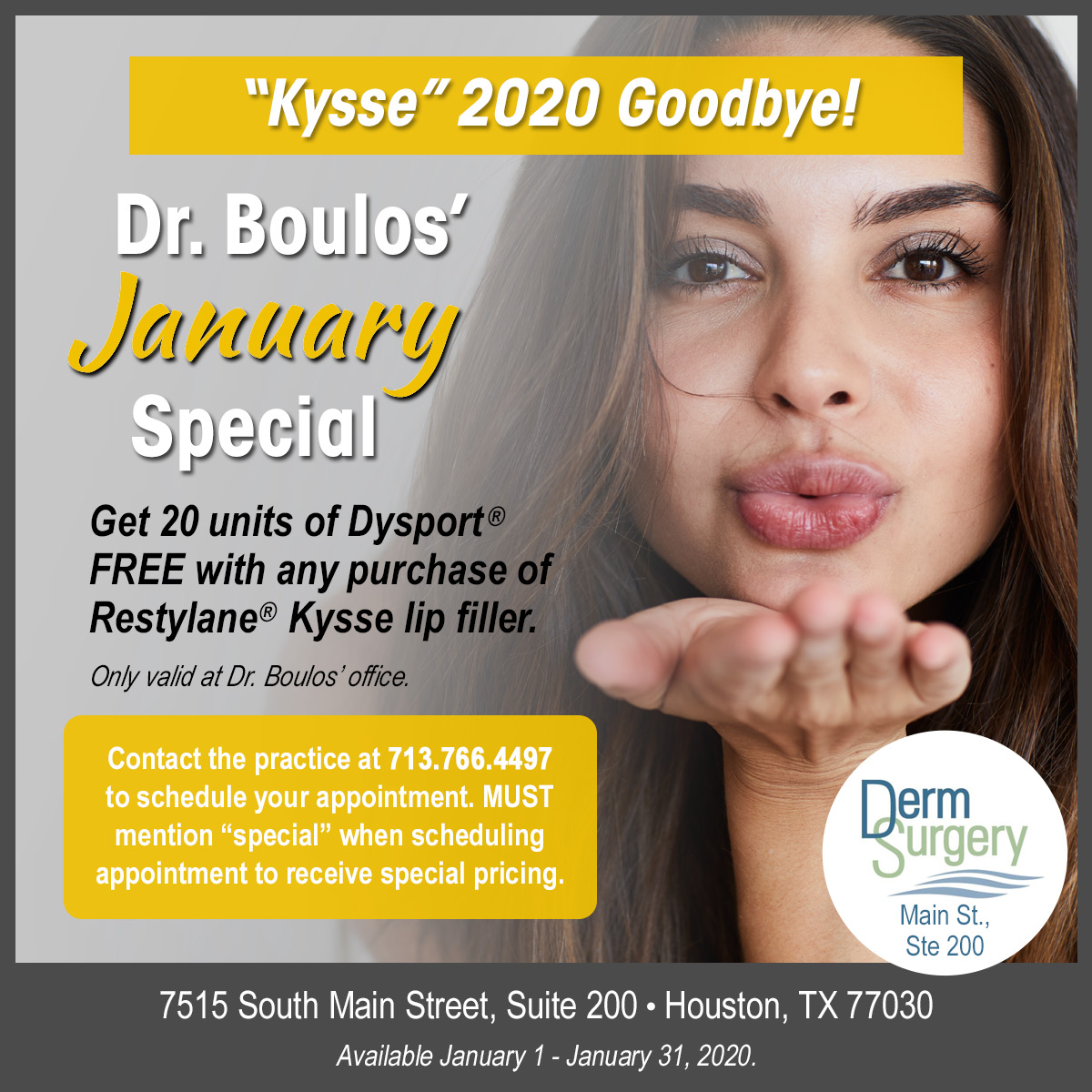 Dr. Boulos's January Kysse Special