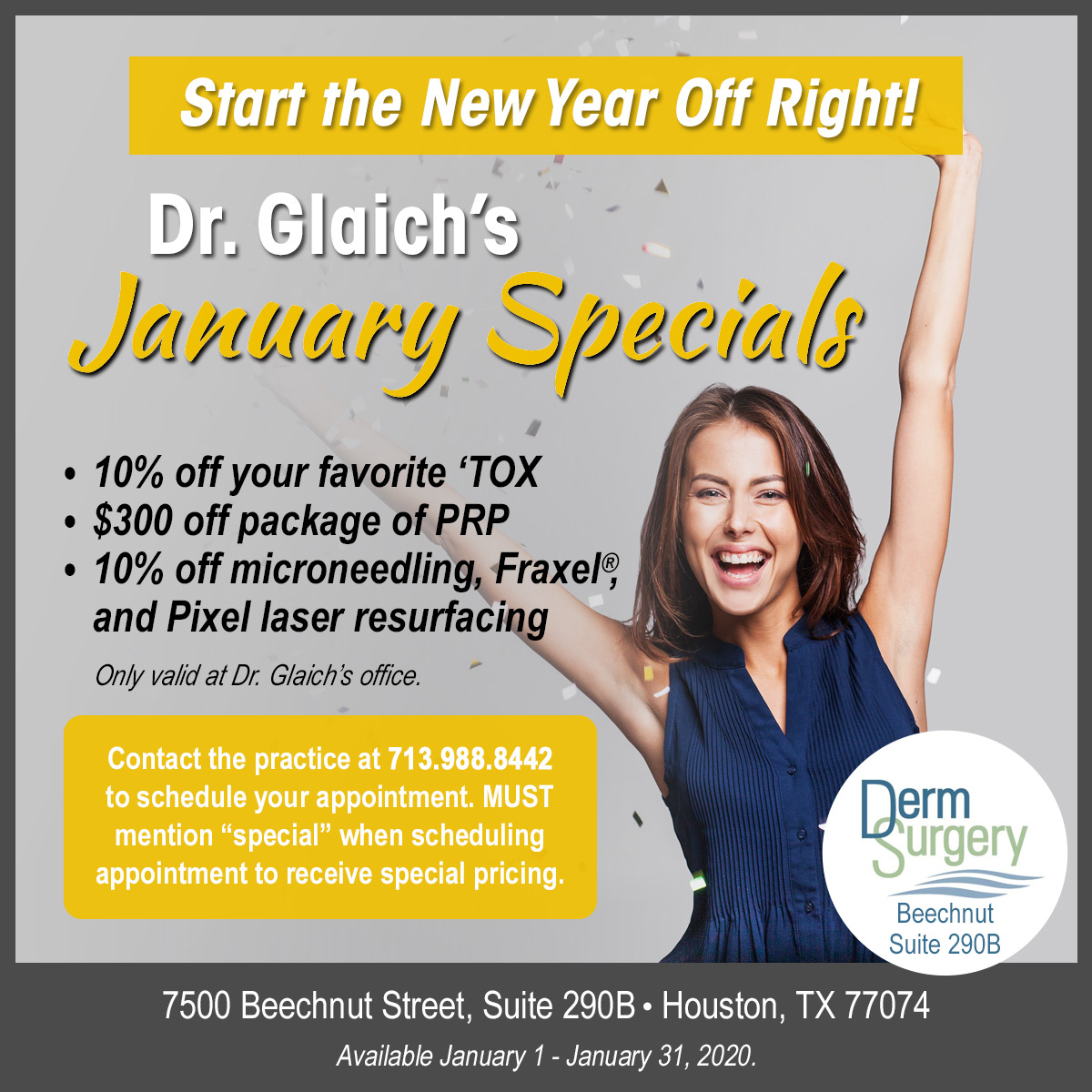 Dr. Glaich's January Special