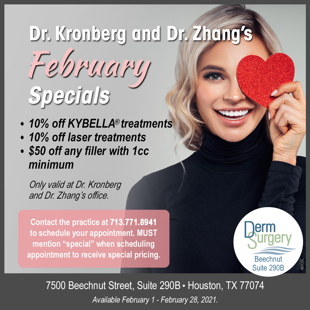 Dr. Kronberg and Dr. Zhang's February Special