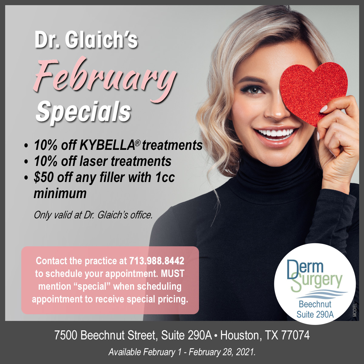 Dr. Glaich's February Special