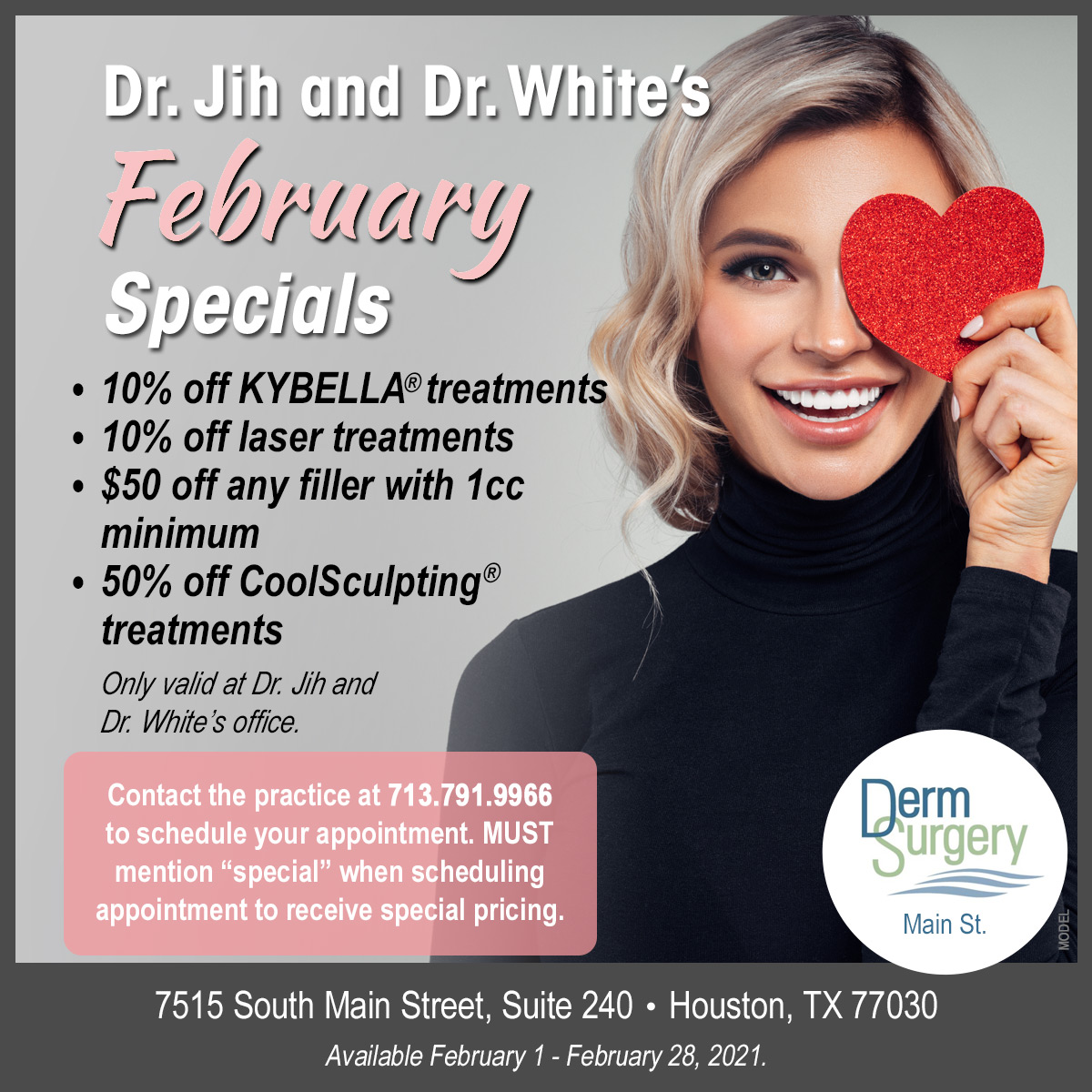 Dr. Jih and Dr. White's February Special