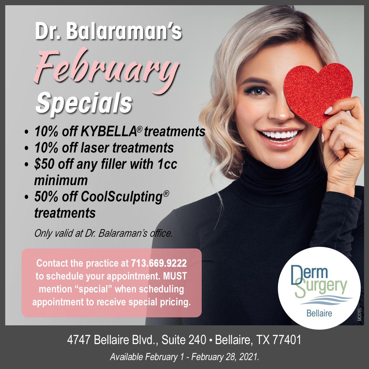 Dr. Balaraman's February Special