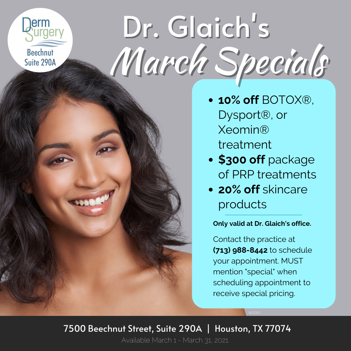 Dr. Glaich's March Specials