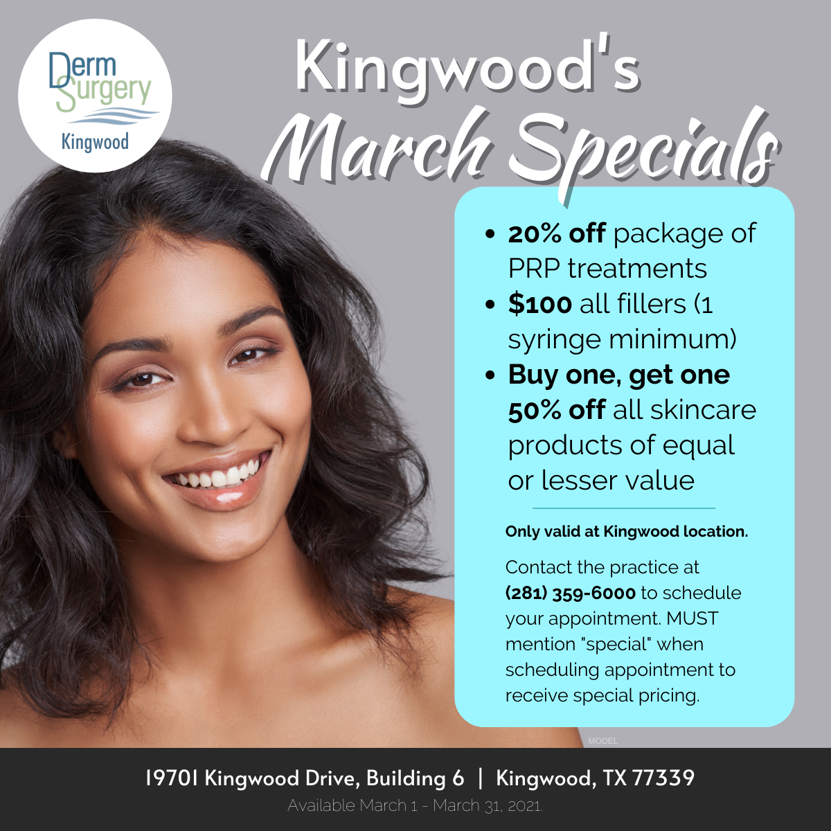 Kingwood Spa's March Specials