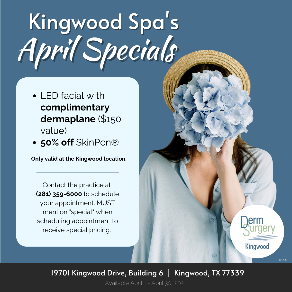 Kingwood Spa's April Specials