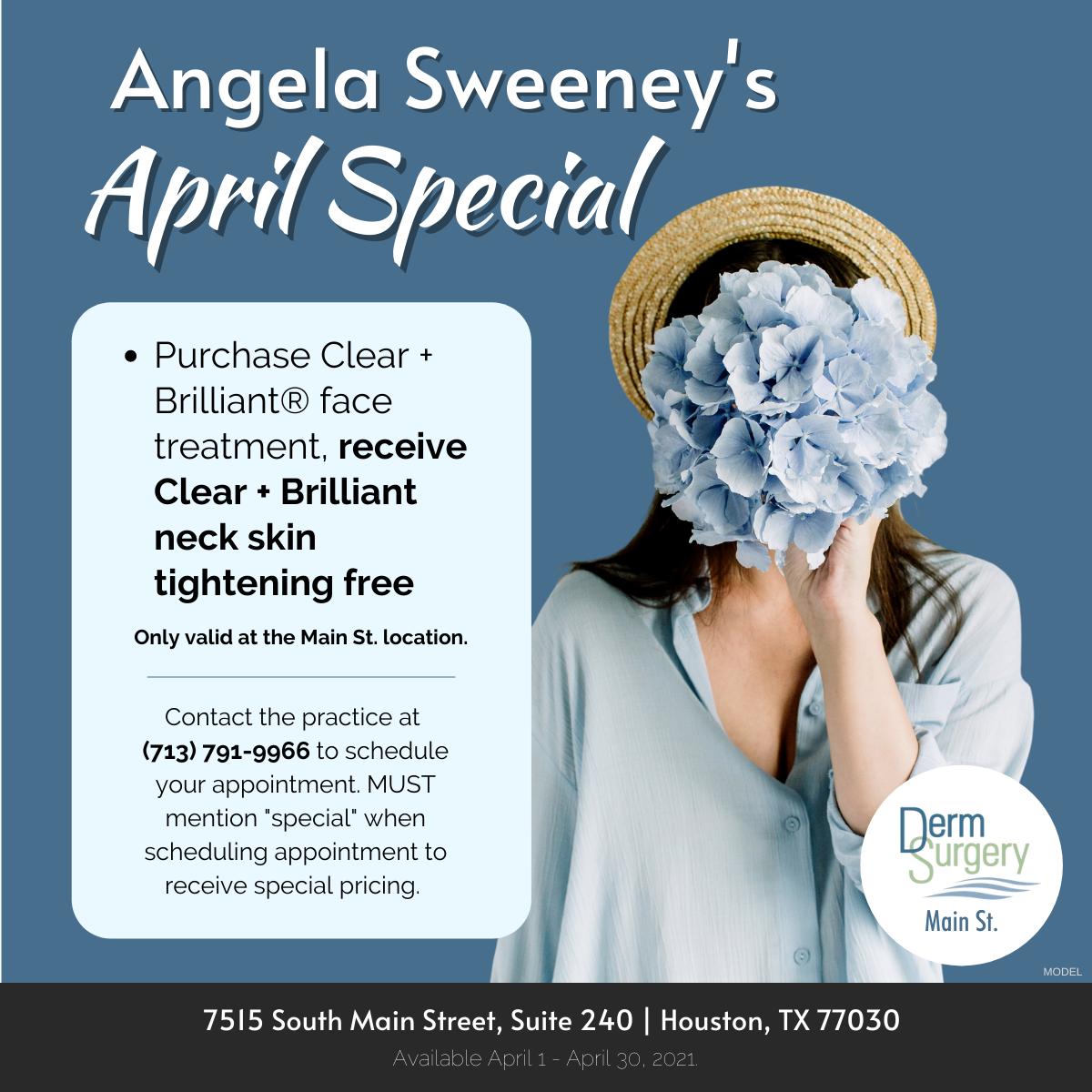 Angela Sweeney's April Special
