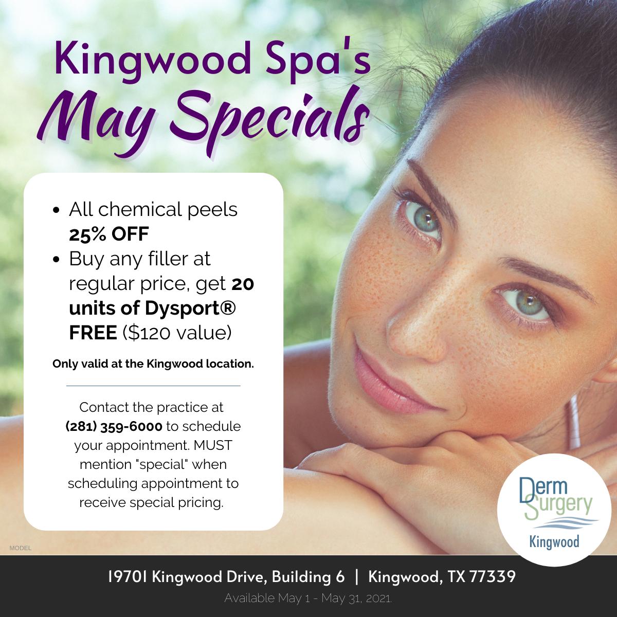 Kingwood Spa's May Specials