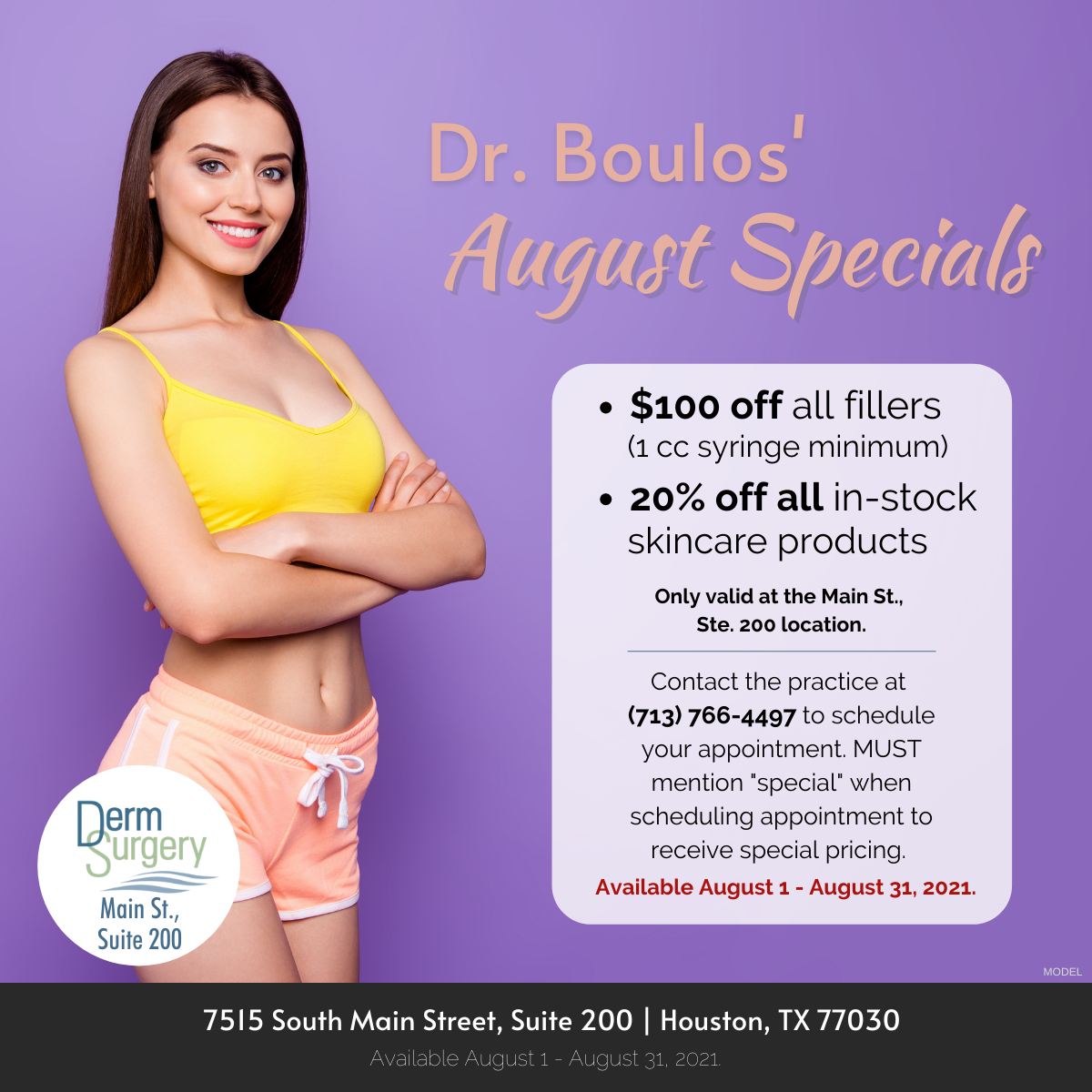 Dr. Boulos' August Specials