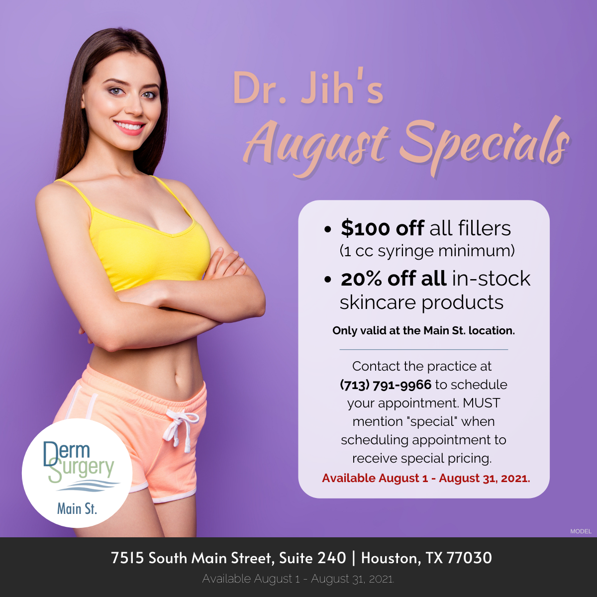 Dr. Jih's August Specials